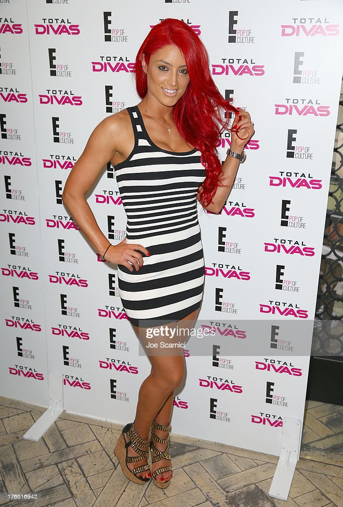 Total Diva Eva Marie celebrates SummerSlam at the London West Hollywood on August 14, 2013 in West Hollywood, California.