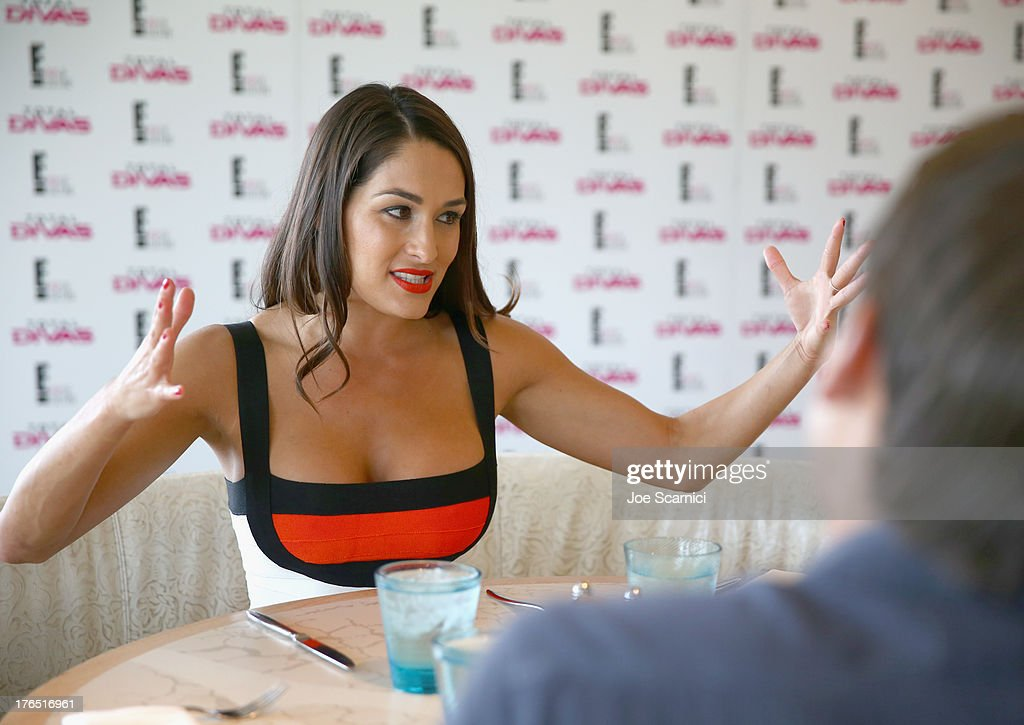 The cast of wwe and e 39 s total divas celebrate summerslam - Diva nikki bella ...