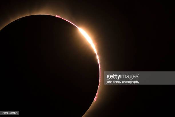 Total eclipse 2017. Diamond ring.