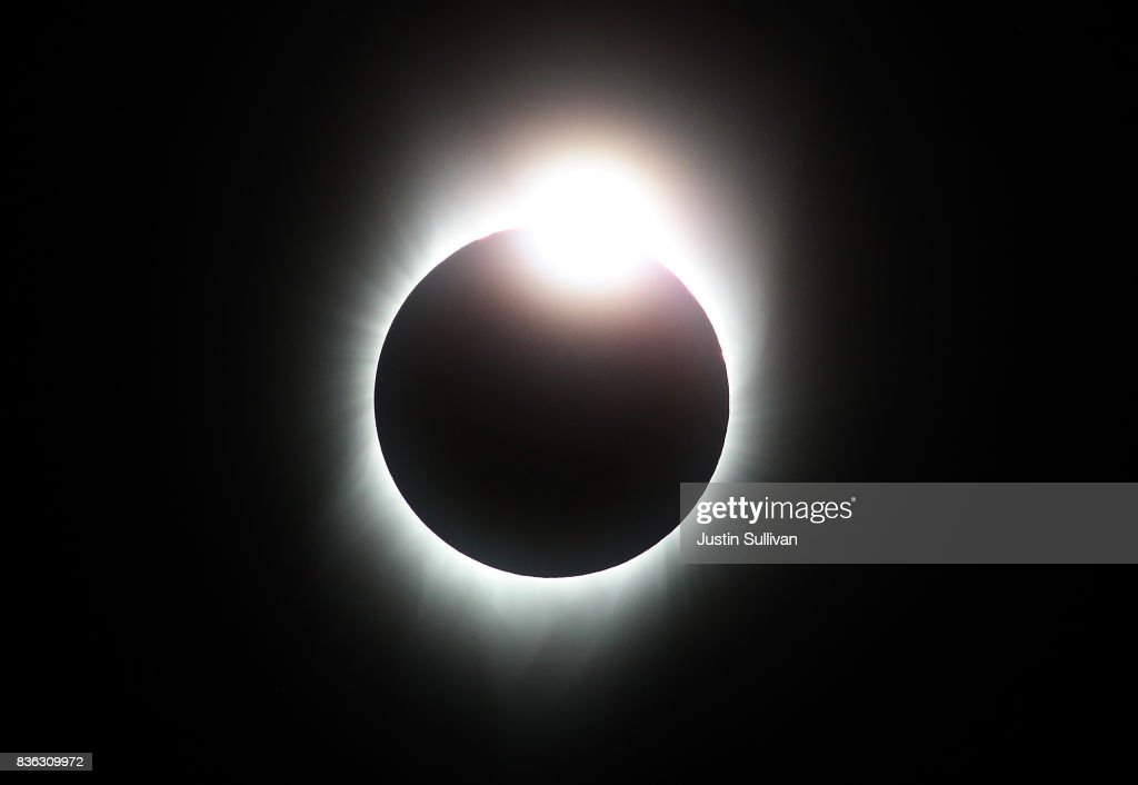 A total eclipse with the 'diamond ring' effect is seen from South Mike Sedar Park on August 21, 2017 in Casper, Wyoming. Millions of people have flocked to areas of the U.S. that are in the 'path of totality' in order to experience a total solar eclipse. During the event, the moon will pass in between the sun and the Earth, appearing to block the sun.