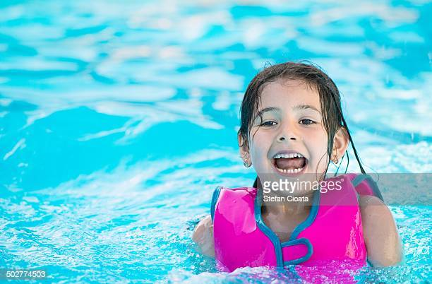 Total fun in swimming pool