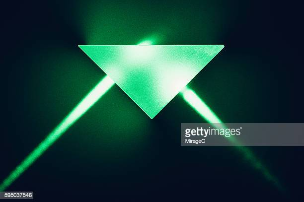 Total Internal Reflection of Green Laser Light Passing a Prism