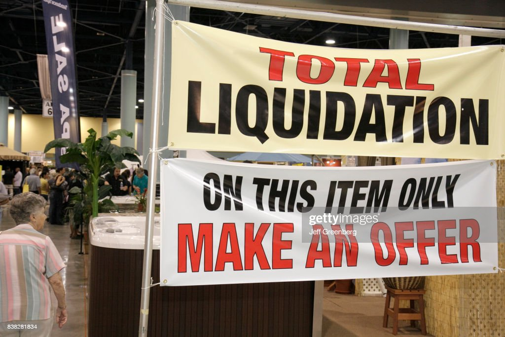 A Total Liquidation Banner At The Home Design And Remodeling Show At Miami  Beach Convention Center