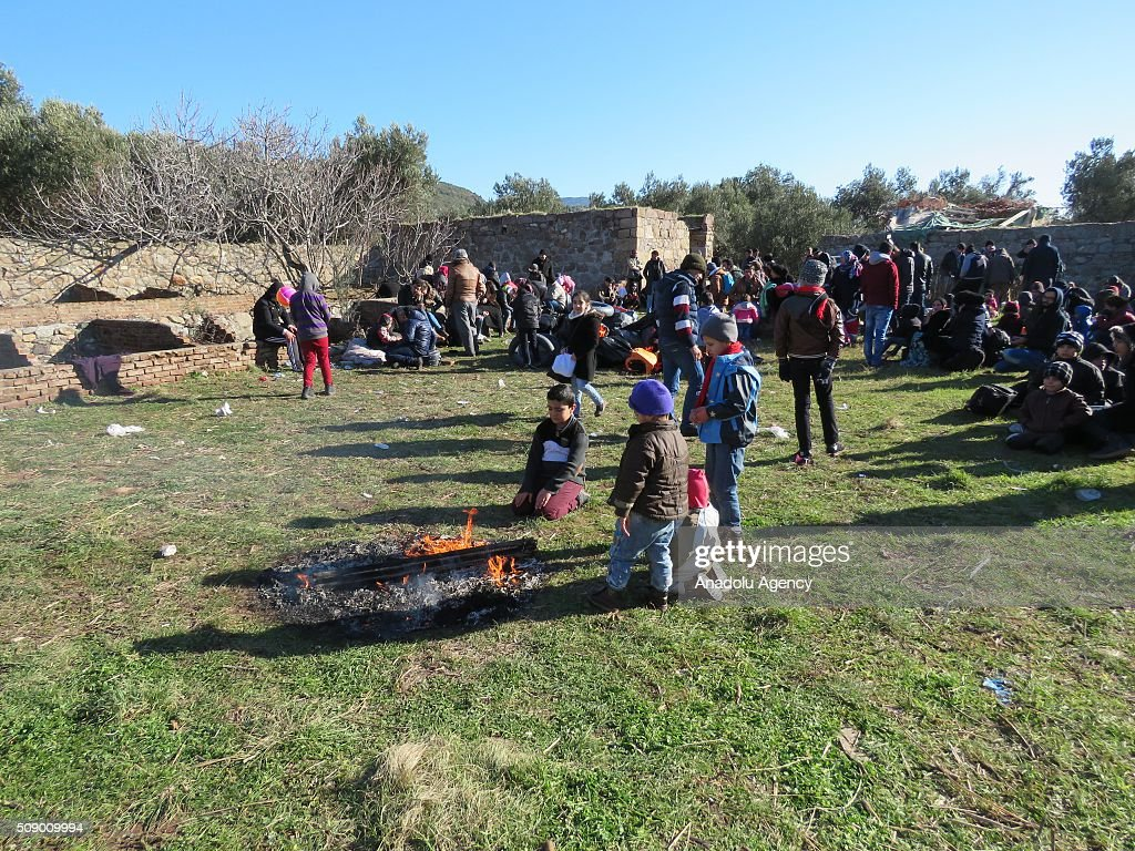 Total of 362 refugees are captured by Turkish gendarme while they were illegally trying to reach Greece's Lesbos Island through Turkey, in Ayvacik district of Canakkale, Turkey on February 8, 2016.