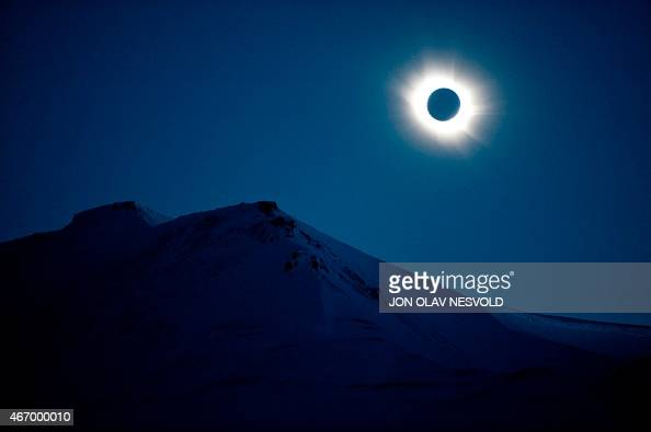 A total solar eclipse can be seen in Svalbard Longyearbyen Norway on March 20 2015 A partial eclipse of varying degrees is visible depending on...