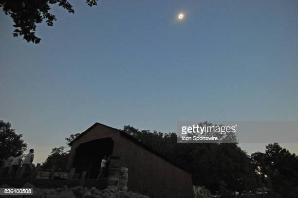 A total solar eclipse occurs on August 21 at Mary's River Covered Bridge in Chester IL