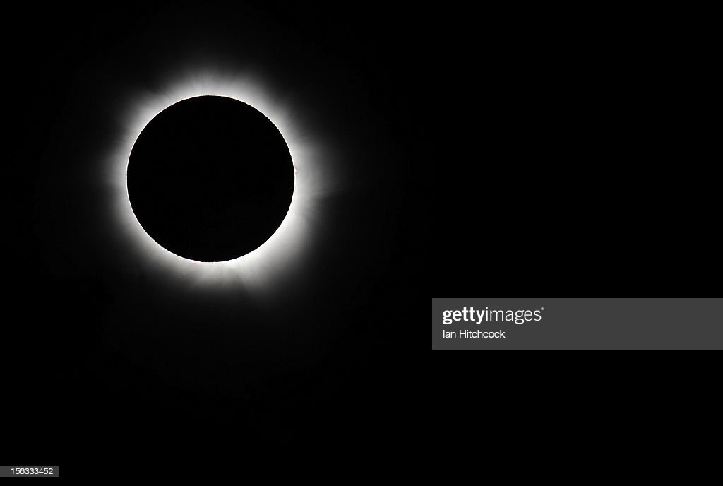 Totality is seen during the solar eclipse at Palm Cove on November 14, 2012 in Palm Cove, Australia. Thousands of eclipse-watchers have gathered in part of North Queensland to enjoy the solar eclipse, the first in Australia in a decade.