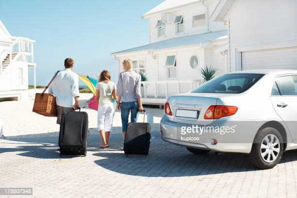 Totalement prêt pour commencer leurs vacances