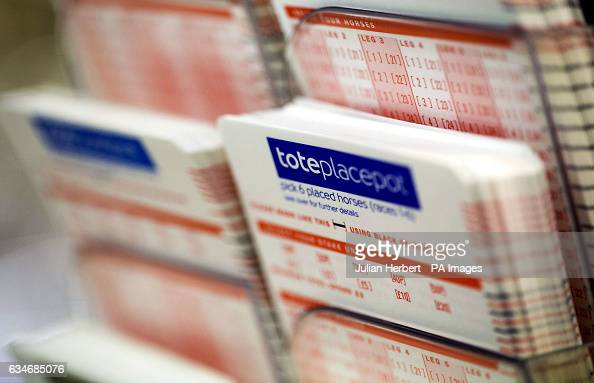 Tote betting slips wait to be used on Betfair Super Saturday at Newbury Racecourse PRESS ASSOCIATION Photo Picture date Saturday February 11 2017 See...