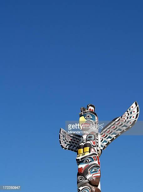 Totem against blue sky