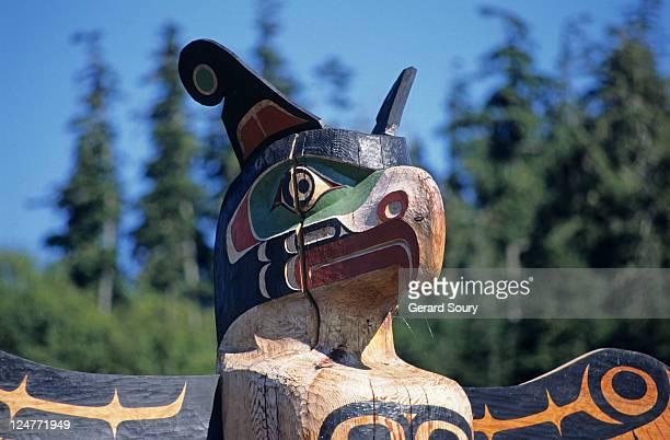 Totem, Alert Bay, Vancouver Island BC, Canada,
