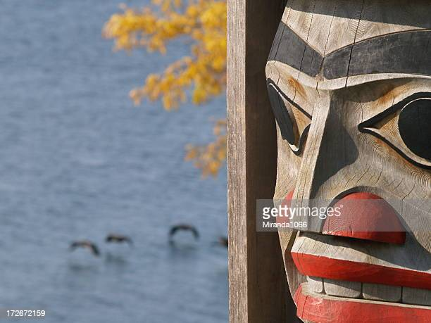 Totem and Canadian geese
