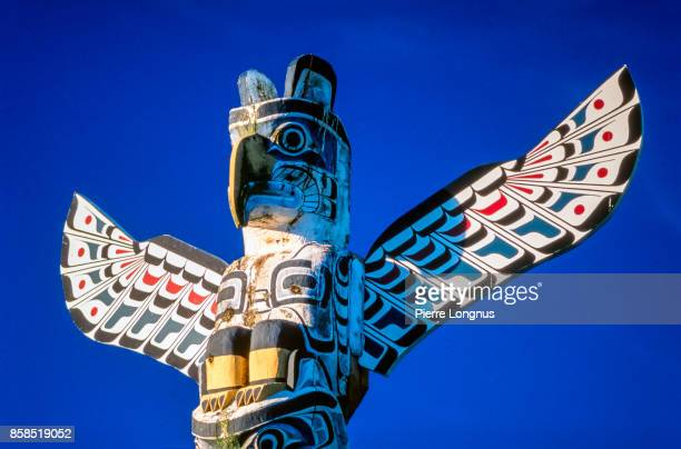 Totem pole at Brockton Point, Stanley Park, Vancouver, British Columbia, Canada