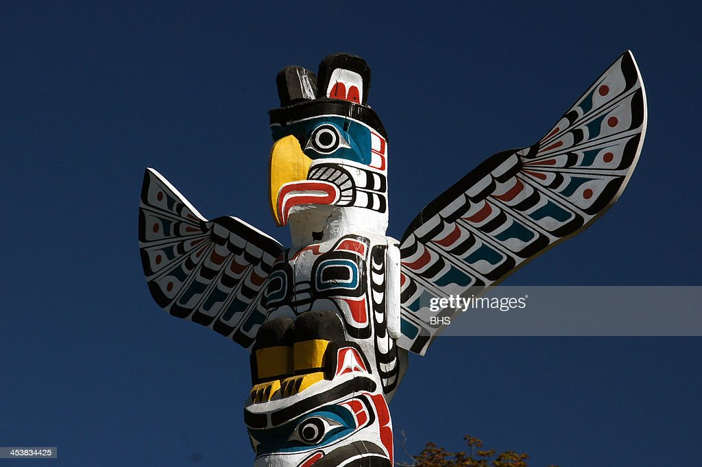 Totem poles Stanley Park Vancouver.