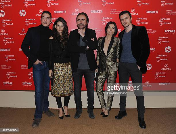 Toto Dumitrescu Alice Peneaca Bobby Paunescu Maria Bata and Dragos Savulescu attend the 'Pioneer's Palace' Premiere during the 2015 Sundance Film...