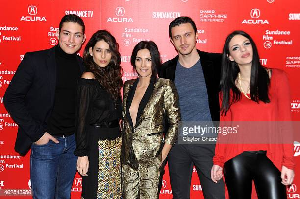 Toto Dumitrescu Alice Peneaca Maria Bata Dragos Savulescu and Alice Halpert attend the 'Pioneer's Palace' Premiere during the 2015 Sundance Film...