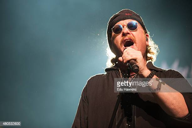 Toto perform on stage at Auditorium Stravinski on July 12 2015 in Montreux Switzerland