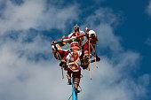 Totonaca Flying Dancers Tulum Yucatan Peninsula Mexico