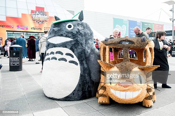 Totoro and The Catbus on Day 2 of MCM London Comic Con at The London ExCel on May 28 2016 in London England