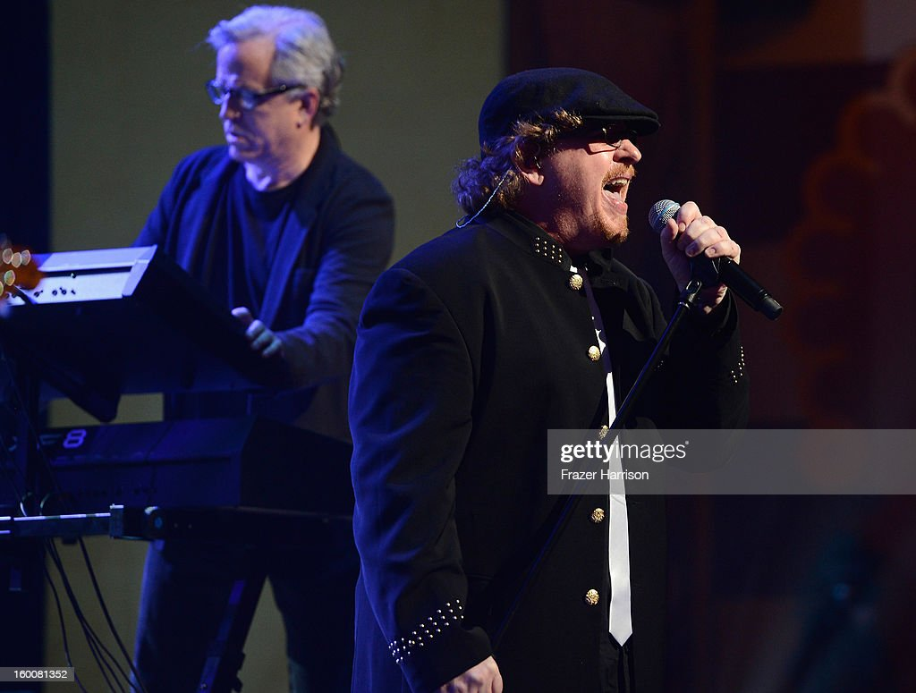 Toto's Joseph Williams celebrating Yamaha's 125th Anniversary Live Around the World Dealer Concert performs at the Hyperion Theater on January 25, 2013 in Anaheim, California.