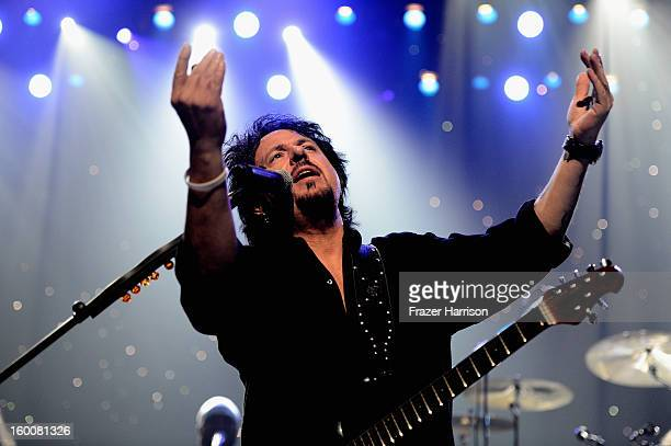 Toto's Steve Lukather celebrating Yamaha's 125th Anniversary Live Around the World Dealer Concert performs at the Hyperion Theater on January 25 2013...