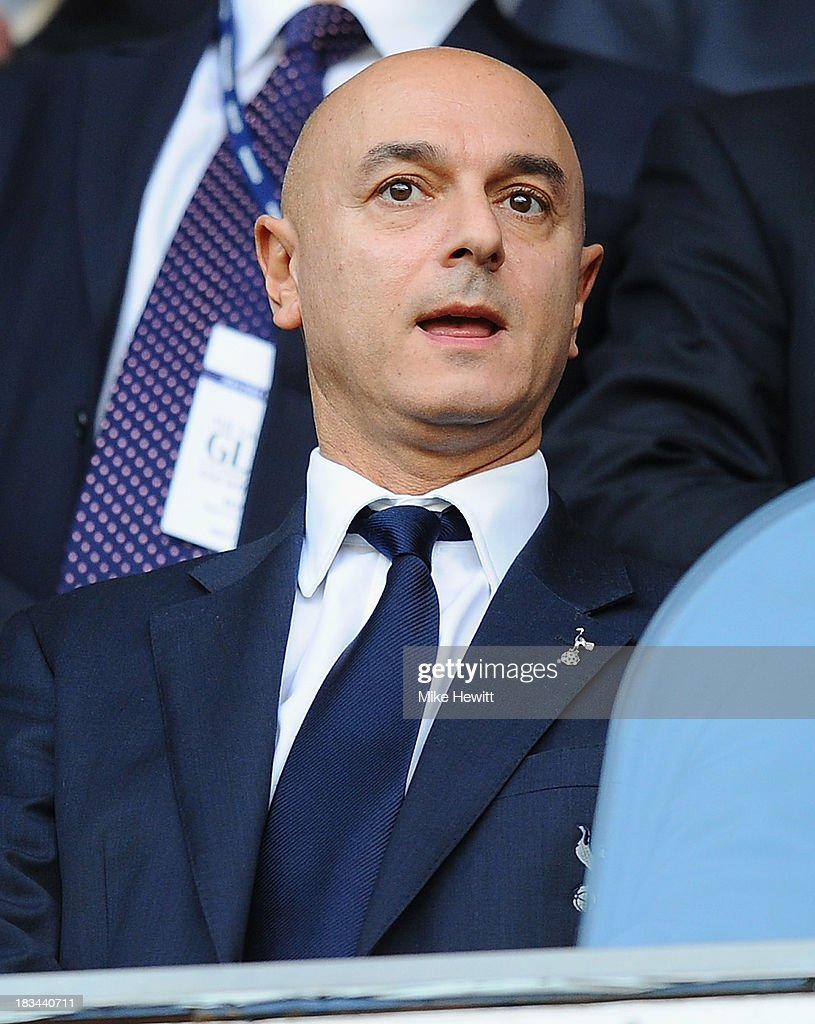 Tottenham chairman and businessman Daniel Levy looks on prior to the Barclays Premier League match between Tottenham Hotspur and West Ham United at White Hart Lane on October 6, 2013 in London, England.