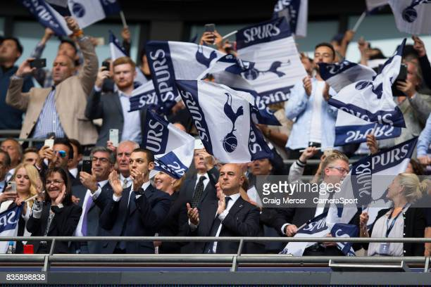 Tottenham Hotspur Chairman Daniel Levy looks on during the Premier League match between Tottenham Hotspur and Chelsea at Wembley Stadium on August 20...