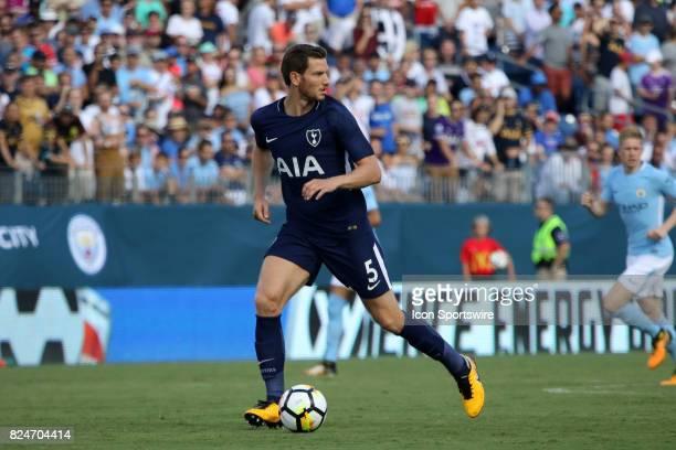 Tottenham Hotspur defender Jan Vertonghen during the game between Manchester City and Tottenham Hotspur Manchester City defeated Tottenham by the...