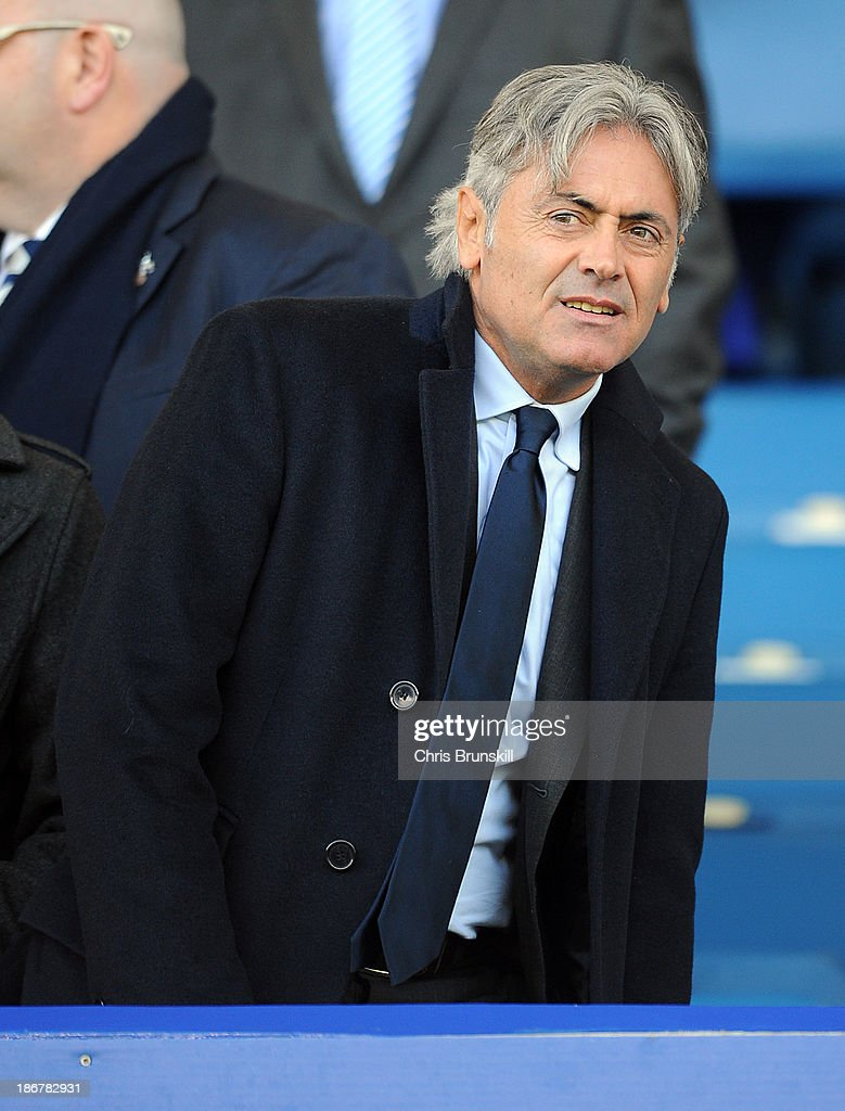 Tottenham Hotspur director of football Franco Baldini looks on during the Barclays Premier League match between Everton and Tottenham Hotspur at Goodison Park on November 03, 2013 in Liverpool, England.