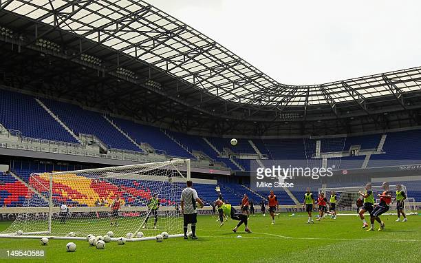 Tottenham Hotspur during a parctice session at Red Bull Arena on July 30 2012 in Harrison New Jersey