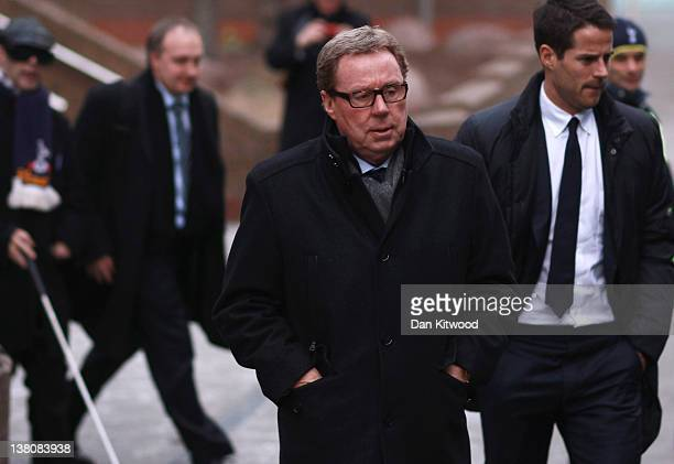 Tottenham Hotspur FC manager Harry Redknapp and his son Jamie Redknapp leave Southwark Crown Court on February 2 2012 in London England Football...