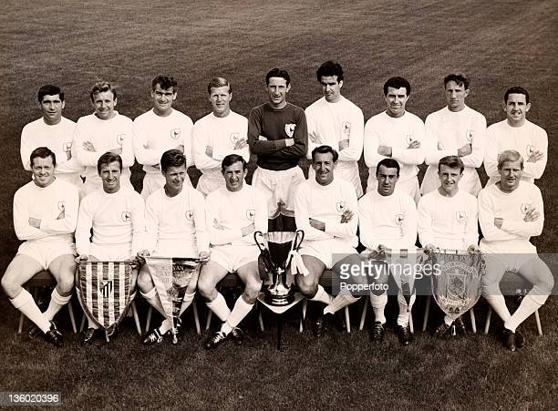Tottenham Hotspur Football Club with the European Cup Winners Cup at White Hart Lane in London circa November 1963 Back row left to right John Smith...