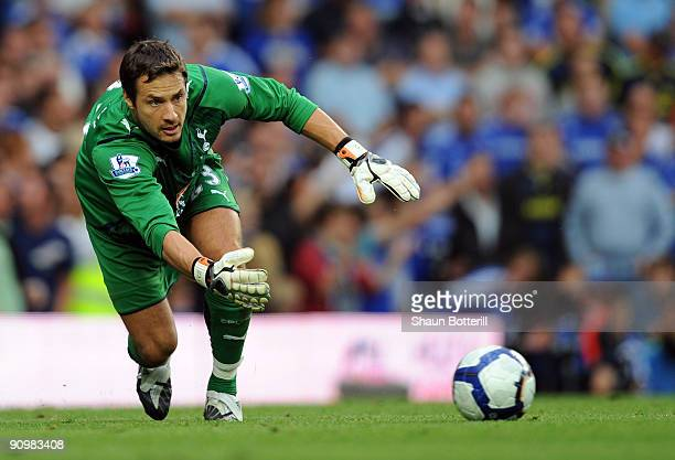 Tottenham Hotspur goalkeeper Carlo Cudicini in action during the Barclays Premier League match between Chelsea and Tottenham Hotspur at Stamford...