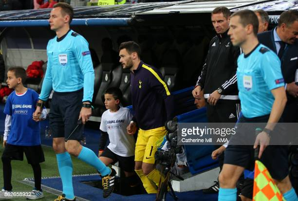 Tottenham Hotspur goalkeeper Hugo Lloris comes out of the tunnel during the UEFA Champions League group H match between Real Madrid and Tottenham...
