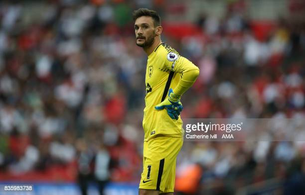 Tottenham Hotspur goalkeeper Hugo Lloris during the Premier League match between Tottenham Hotspur and Chelsea at Wembley Stadium on August 20 2017...