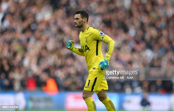 Tottenham Hotspur goalkeeper Hugo Lloris during the Premier League match between Tottenham Hotspur and Liverpool at Wembley Stadium on October 22...