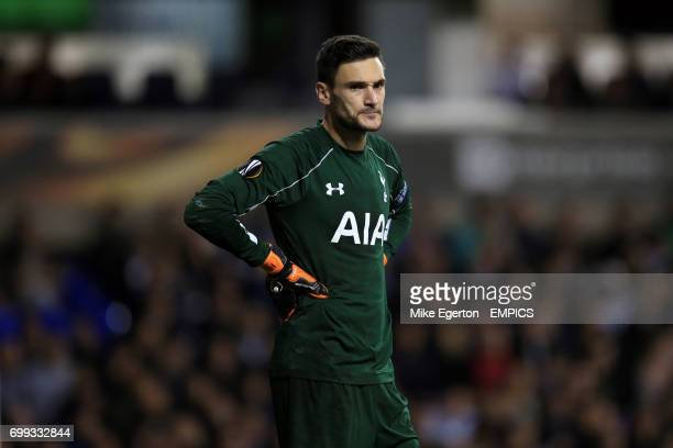 Tottenham Hotspur goalkeeper Hugo Lloris during the UEFA Europa League match at White Hart Lane London