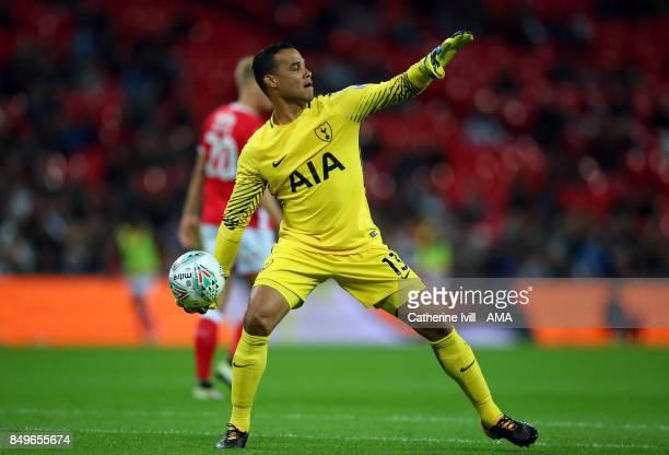 Tottenham Hotspur goalkeeper Michel Vorm during the Carabao Cup Third Round match between Tottenham Hotspur and Barnsley at Wembley Stadium on...