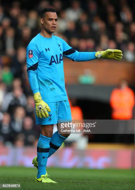 Tottenham Hotspur goalkeeper Michel Vorm during The Emirates FA Cup Fifth Round match between Fulham and Tottenham Hotspur at Craven Cottage on...
