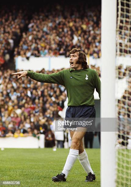 Tottenham Hotspur goalkeeper Pat Jennings in action at White Hart Lane circa 1972 in London England