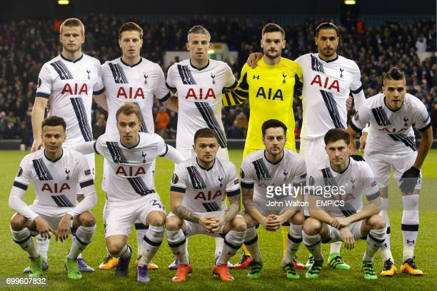 Tottenham Hotspur group photo Eric Dier Kevin Wimmer Toby Alderweireld goalkeeper Hugo Lloris Nacer Chadli and Erik Lamela Dele Alli Christian...
