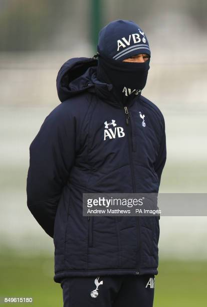 Tottenham Hotspur manager Andre VillasBoas during a training session at Enfield training ground London