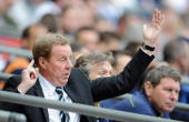 Tottenham Hotspur manager Harry Redknapp instructs his team during the FA Cup sponsored by EON Semi Final match between Tottenham Hotspur and...