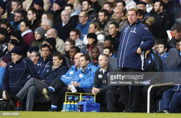 Tottenham Hotspur manager Harry Redknapp on the touchline during the match