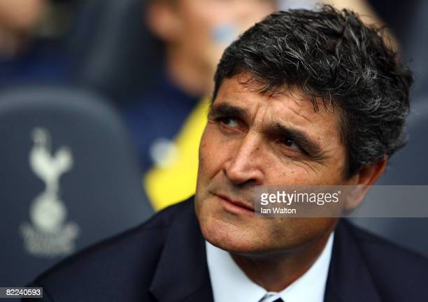Tottenham Hotspur manager Juande Ramos looks on during the Pre Season Friendly match between Tottenham Hotspur and AS Roma at White Hart Lane on...