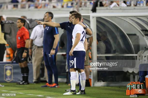 Tottenham Hotspur manager Mauricio Pochettino gives instructions to Harry Winks of Tottenham Hotspur during the International Champions Cup 2017...