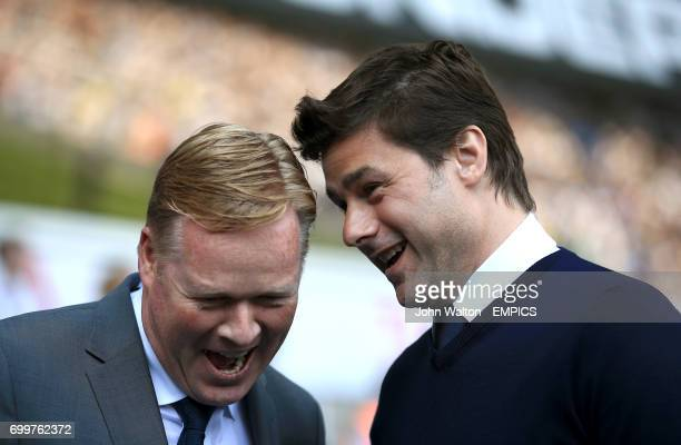 Tottenham Hotspur manager Mauricio Pochettino has a laugh with Southampton manager Ronald Koeman before the start of the match