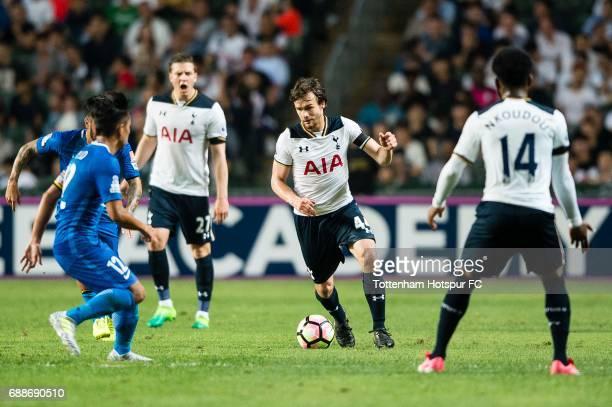 Tottenham Hotspur midfielder Filip Lesniak in action during the Friendly match between Kitchee SC and Tottenham Hotspur FC at Hong Kong Stadium on...