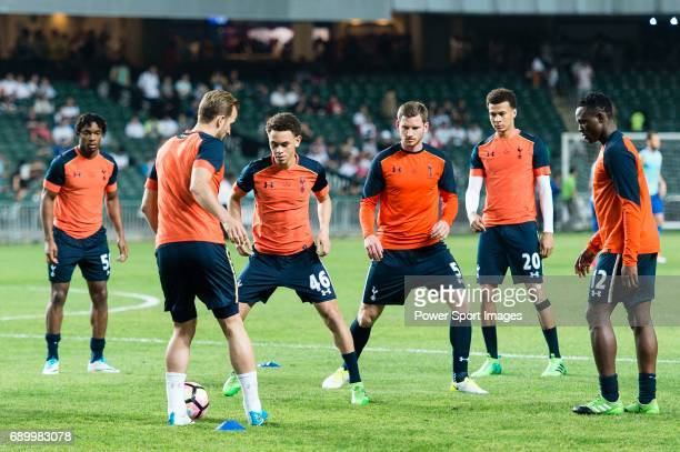 Tottenham Hotspur Midfielder Luke Amos during the Friendly match between Kitchee SC and Tottenham Hotspur FC at Hong Kong Stadium on May 26 2017 in...