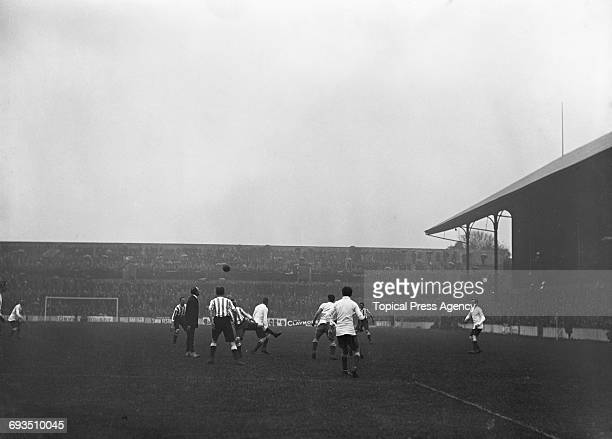 Tottenham Hotspur passing the ball out from a throwin during a First Division match against Bury at Spurs' White Hart Lane ground London 7th October...
